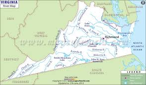 map usa virginia state rivers in virginia virginia rivers map