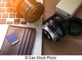 bureau photographe photographe lentilles bureau photographe ordinateur