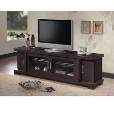 2 Door Tv Cabinet Baxton Studio Contemporary 70 Inch Brown Wood Tv Cabinet