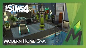 the sims 4 room building modern home gym youtube