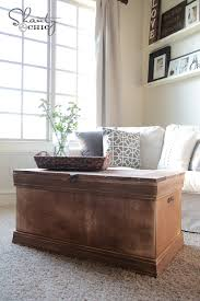Coffee Table Chest Pottery Barn Inspired Chest Coffee Table Shanty 2 Chic