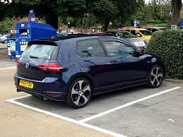 volkswagen gti blue 2017 mk7 gti in night blue marc sayce flickr