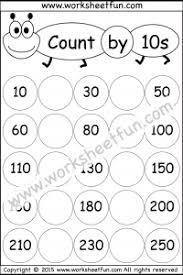 skip counting by 10 u2013 3 worksheets free printable worksheets