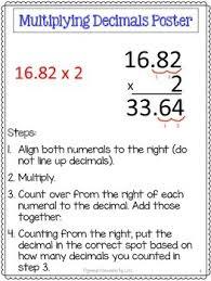 decimals unit pretests post tests poster cheat sheets worksheets