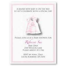 pink dress baby shower invitations baby cachet