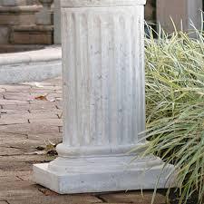 Toscano Home Decor Shop Design Toscano Roman Column Plinth 25 In Architecture Garden