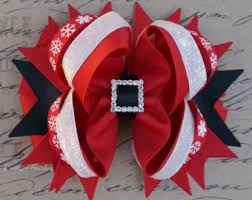christmas hair bows merry christmas hair bow
