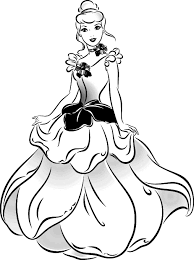beautiful dress cinderella coloring pages coloringsuite