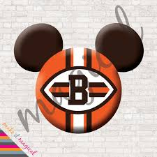 cleveland browns mickey mouse head digital download cleveland
