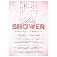 baby shower invitations glitter look streaming gems pink