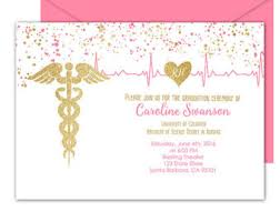 nursing graduation announcements invitation etsy