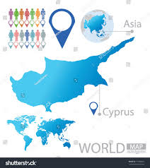where is the republic on the world map republic cyprus asia world map vector stock vector 151848257