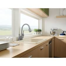 delta allora kitchen faucet delta 989 dst allora polished chrome pullout spray kitchen faucets