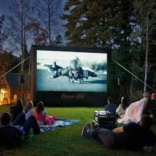 amazon com cinebox home 12 u0027 x7 u0027 backyard theater projection