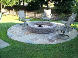 Concrete Backyard Ideas Articles With Brick Backyard Fire Pit Designs Tag Glamorous Fire