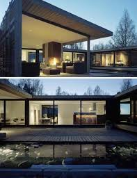 u shaped houses modern clean lines dreamy homes pinterest lakes house and modern