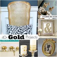 diy projects for home decor 40 gold home decor projects