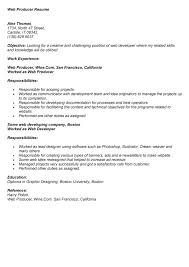 web producer resume cv template monaco sample resume executive