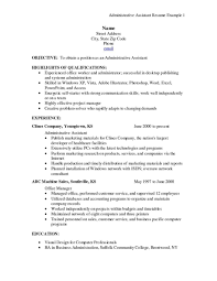 Marketing Assistant Resume Sample Administrative Assistant Resume Samples Free Resume Free Cover