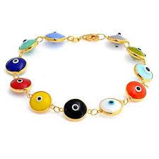 eye bracelet images 10mm multi color sterling silver evil eye bracelet 7 inch jpg