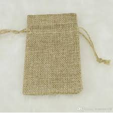 wholesale gift wrap rolls 7 9cm layer linen drawstring bags jute gift package