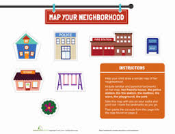 map your neighborhood worksheets community helpers and social