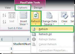 how to update pivot table how to refresh pivot table when data changes in excel