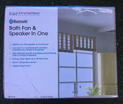 bath fan and speaker in one homewerks worldwide 7130 04 bt bluetooth bath fan speaker in one