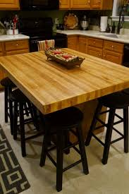 diy butcher block island countertop andiamo but here it is in all it s faux butcher block glory not too bad for under say 70 and it s huuuuge and i love it