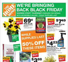 spring black friday home depot event thrifty 101