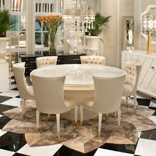 round dining table and chairs high end modern ivory lacquered round dining table set juliettes