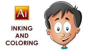 tutorial for illustrator drawing inking and coloring a cartoon character adobe illustrator