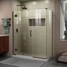 34 Shower Door Dreamline Unidoor X 34 3 8 In X 57 5 In X 72 In Frameless Pivot