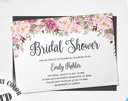 bridal shower invitation templates rustic floral bridal shower invitation template printable