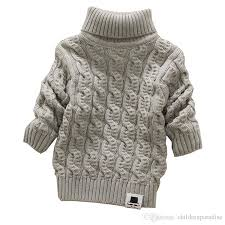 boys turtleneck with beard label solid baby sweaters