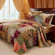 french country patchwork cotton bedspread set oversized luxury