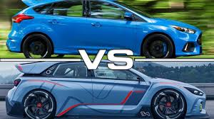 ford focus concept 2017 hyundai rn30 concept vs 2016 ford focus rs