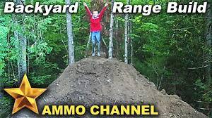 building the backyard shooting range youtube