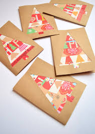 handmade christmas cards wrapping paper scrap christmas cards