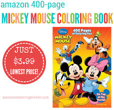 disney mickey mouse 400 coloring book 3 99 lowest price