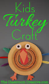 turkey craft using an old record player