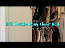 diy double closet rod hanger youtube