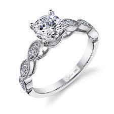 modern engagement rings modern round brilliant diamond engagement ring