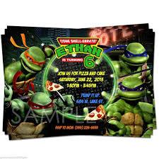 teenage mutant ninja turtles birthday invitations template best