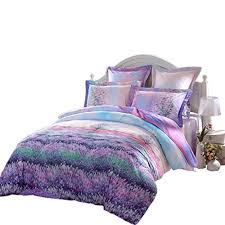 Duvet And Pillow Covers Fragrance Of Provence Beautiful 100 Cotton 3 Piece Bedding Set 1x