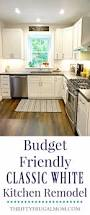 Kitchen Remodels Before And After Budget Friendly Classic White Kitchen Remodel Before Pictures And