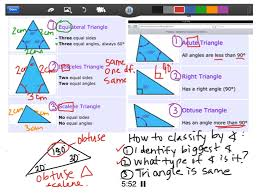 classifying triangles math geometry special education middle