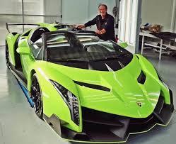 Lamborghini Gallardo Lime Green - valentino balboni poses with verde singh lamborghini veneno