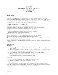 Job Description For Cashier For Resume by Fast Food Cashier Job Description Resume Free Resume Example And