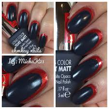 ehmkay nails black and white and red all over nail art